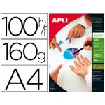 Papel fotográfico Apli glossy doble cara tamaño A4 pack de 100 hojas 160 gr
