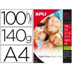 Papel fotográfico Apli glossy tamaño A4 pack de 100 hojas 140 gr