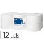 Papel higiénico Tork minijumbo 1 capa 290 mt para dispensador t2