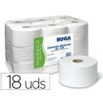 Papel higiénico industrial gofrado Buga reciclado 2 capas 130 m