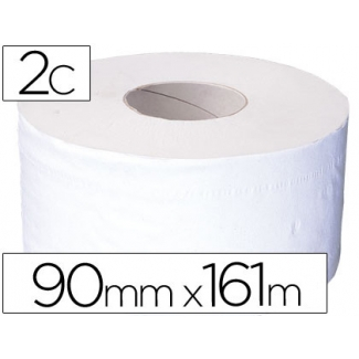 Papel higiénico jumbo 2/c blanco-mandril de 62,5 mm para dispensador 325