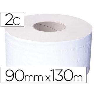 Papel higiénico jumbo 2 capas reciclado rollo con 130 mt s para dispensador 925