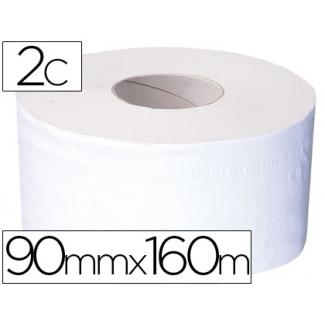 Papel higiénico mini jumbo 2 capas 160 mt para dispensador t2