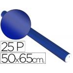Liderpapel 29137 - Papel metalizado, rollo de 25 hojas trepadas, 50 x 65 cm, color azul