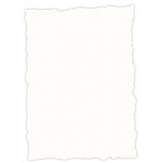 Papel pergamino tamaño A4 troquelado 200 gr color rustico blanco paquete de 25 hojas