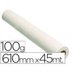 Papel reprografia grafic 100 grs para plotter papel estucado color blanco mate 610x45 mt s dpi