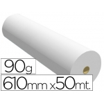 Papel reprografia para plotter 90 g/m2, medida 610 mm x 50 m