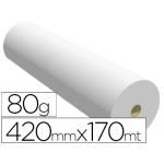 Papel reprografia ppc para planos 420 mm x170 mt 80gr