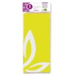 Liderpapel SE04 - Papel seda, tamaño 52x76 cm, 18 gr/m2, color amarillo, bolsa de 5 hojas