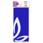 Liderpapel SE05 - Papel seda, tamaño 52x76 cm, 18 gr/m2, color azul, bolsa de 5 hojas