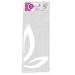 Liderpapel SE01 - Papel seda, tamaño 52x76 cm, 18 gr/m2, color blanco, bolsa de 5 hojas
