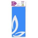 Liderpapel SE06 - Papel seda, tamaño 52x76 cm, 18 gr/m2, color azul celeste, bolsa de 5 hojas