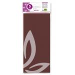 Liderpapel SE07 - Papel seda, tamaño 52x76 cm, 18 gr/m2, color marrón, bolsa de 5 hojas
