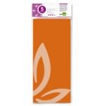 Liderpapel SE08 - Papel seda, tamaño 52x76 cm, 18 gr/m2, color naranja, bolsa de 5 hojas