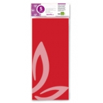 Liderpapel SE10 - Papel seda, tamaño 52x76 cm, 18 gr/m2, color rojo, bolsa de 5 hojas