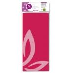 Liderpapel SE13 - Papel seda, tamaño 52x76 cm, 18 gr/m2, color rosa fuerte, bolsa de 5 hojas