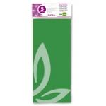 Liderpapel SE14 - Papel seda, tamaño 52x76 cm, 18 gr/m2, color verde, bolsa de 5 hojas