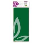 Papel seda Liderpapel 52x76 cm 18g/m2 bolsa de 5 hojas verde oscuro