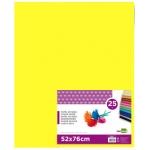 Papel seda Liderpapel color amarillo 52x76 cm 18 gr paquete de 25 hojas
