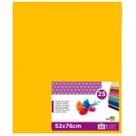 Liderpapel SE18 - Papel seda, tamaño 52x76 cm, 18 gr/m2, color naranja, paquete de 25 hojas