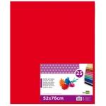 Papel seda Liderpapel color rojo 52x76 cm 18 gr paquete de 25 hojas