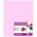 Liderpapel SE17 - Papel seda, tamaño 52x76 cm, 18 gr/m2, color rosa, paquete de 25 hojas