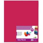 Liderpapel SE19 - Papel seda, tamaño 52x76 cm, 18 gr/m2, color rosa fuerte, paquete de 25 hojas