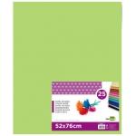 Liderpapel SE24 - Papel seda, tamaño 52x76 cm, 18 gr/m2, color verde medio, paquete de 25 hojas