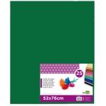 Papel seda Liderpapel color verde oscuro 52x76 cm 18 gr/m2 paquete de 25 hojas