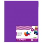 Papel seda Liderpapel color violeta 52x76 cm 18 gr paquete de 25 hojas