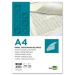 Papel verjurado Liderpapel tamaño A4 120 gr/m2 color blanco paquete de 100