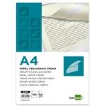 Papel verjurado Liderpapel tamaño A4 120 gr/m2 color crema paquete de 100