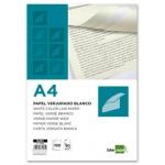 Papel verjurado Liderpapel tamaño A4 90 gr/m2 color blanco paquete de 100