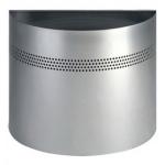 Papelera Smead semicircular perforada color plata