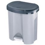 Papelera contenedor Offisys plástico con tapadera y pedal 2 depósitos 2x10l color gris 390x405x320 mm