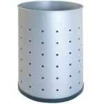 Papelera metálica 101-r plateada pintada perforada 315x215 mm