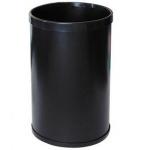 Papelera metálica 104 negra 32.5x21.5 cm