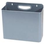 Papelera metálica 99 de pared 45x13x29 cm color gris