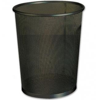 Papelera metálica Q-Connect negra rejilla- 205x210x150 mm