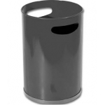 Papelera metálica con asas 101 negra 32x21 cm