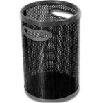 Papelera metálica con asas 102 p negra calada 32x25 cm goma en abertura y base