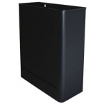 Papelera metálica de pared 24l 460x350x150 mm color negro