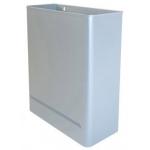 Papelera metálica de pared 24l 460x350x150 mm color plata