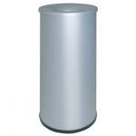 Papelera metálica ignifuga115 con aro inferior pvc diámetro de 27 cm altura 65 cm capacidad 55l