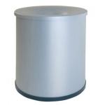 Papelera metálica ignifuga122 con aro inferior pvc diámetro de 27 cm altura 35 cm capacidad 30l