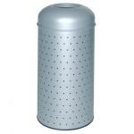 Papelera metálica perforada con cubo interior 390x850 mm