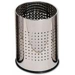 Papelera metálica perforada cromada 250x325 mm