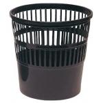 Papelera plástico 119 negra medida 27.5x27.5 cm