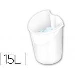 Papelera plástico Cep isis color blanca 318x278x380 mm