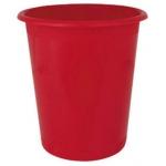 Papelera plástico Ensto stand 290 mm de diámetro de 320 mm de altura 13 litros color rojo